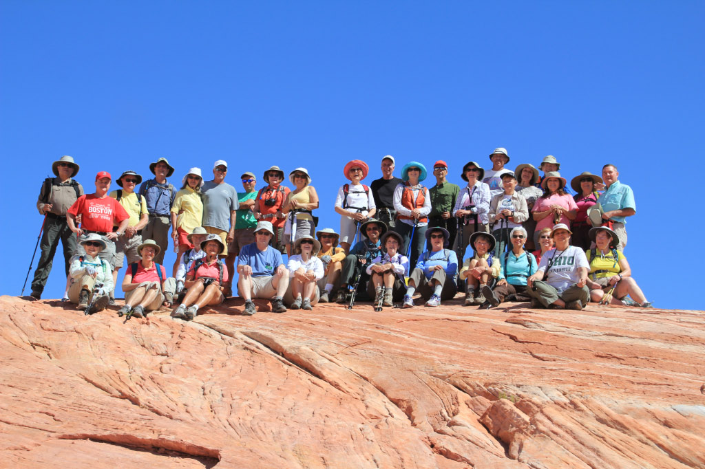 Group photo of Valley of Fire Hikers